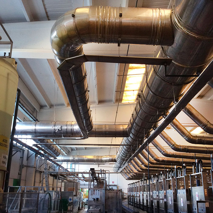 Sistema de aspiración de vapores | Producción de baterías eléctricas | Italia