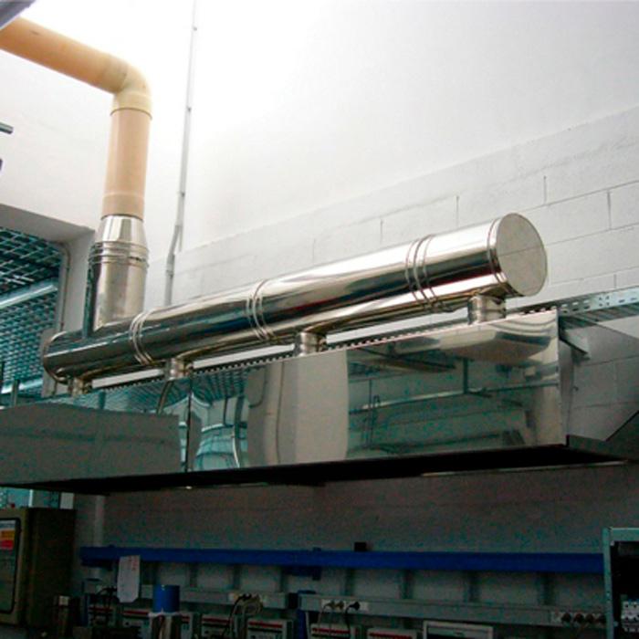 Campana y sistema de aspiración de gas | Producción de baterías eléctricas | Italia