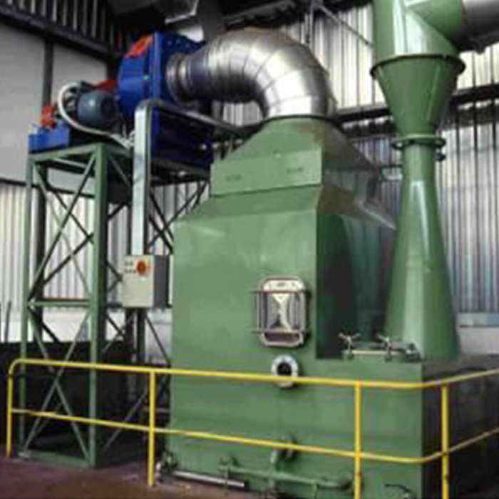 SCRV vertical scrubber with Venturi duct | Singeing line | Italy