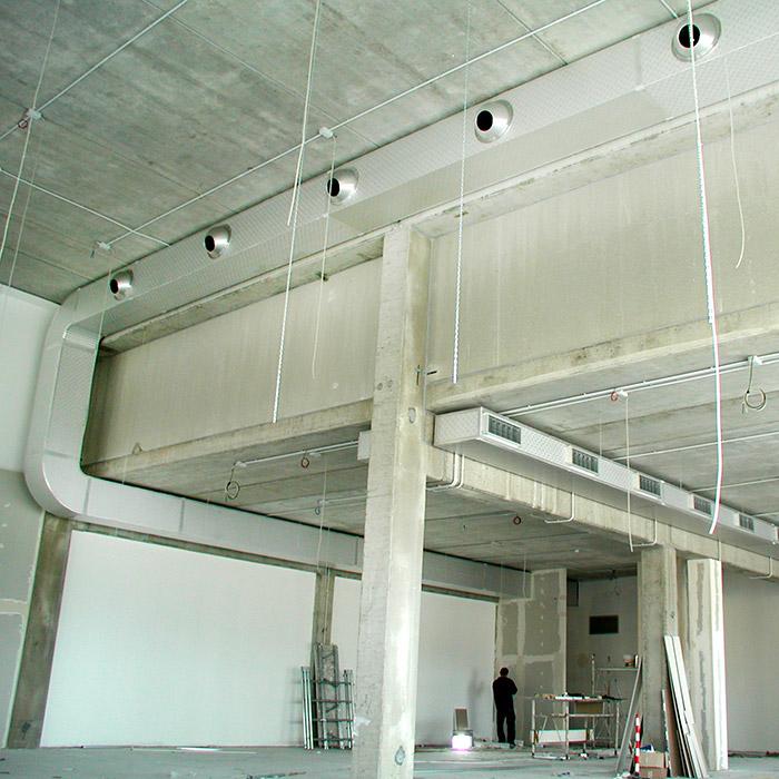 Sistema de aire acondicionado | Tienda de ropa | Italia