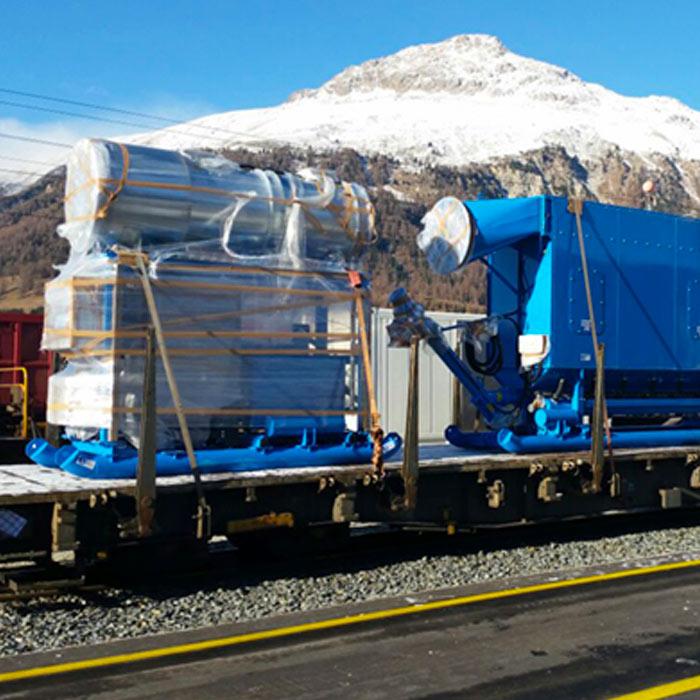 Depolveratore TMU | Scavo tunnel con fresa puntuale| Svizzera