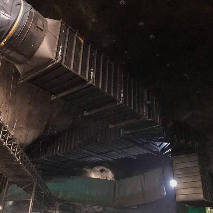 Conducto rígido para la ventilación primaria durante la excavación del túnel ferroviario | Italia