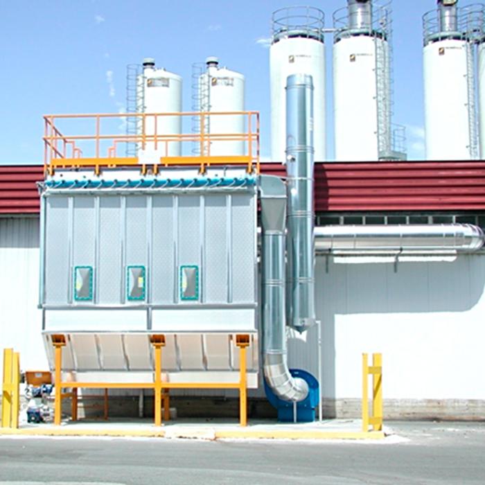 Filtro de manga autolimpiante FMA aislado | Procesamiento del azúcar | Italia