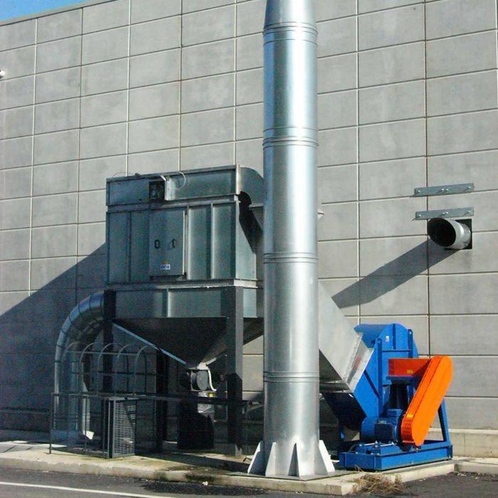 Filtro de cartucho autolimpiante FCA | Sistema de limpieza de vagones de ferrocarril | Italia