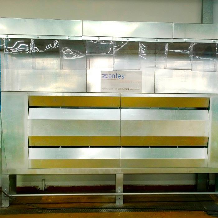 Sistema de aspiración y filtración polvo | Departamento de urdido | Italia