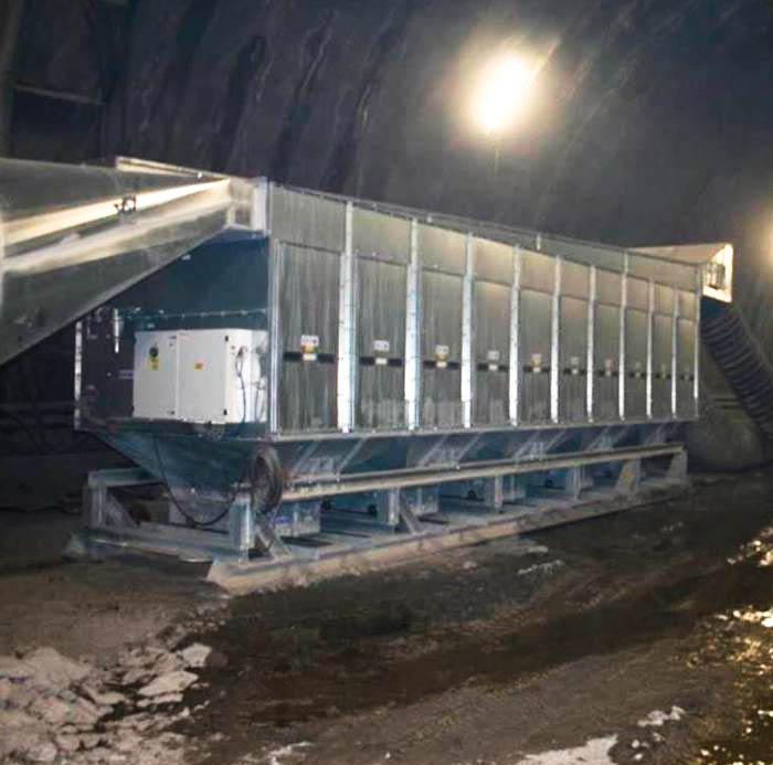 Depolveratore TMU | Scavo tunnel con esplosivo | Italia