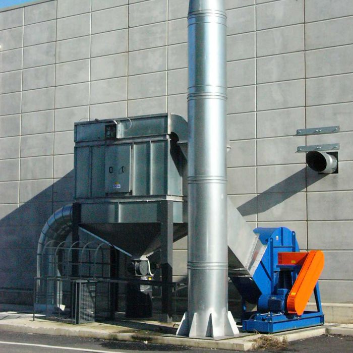 Filtro a cartucce autopulente FCA | Impianto pulizia vagoni ferroviari | Italia