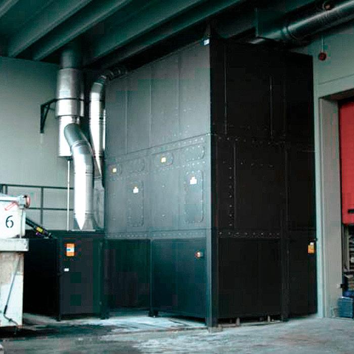 Scrubber horizontal SCRO para polvo de caucho | Proceso de regeneración de neumáticos | Italia