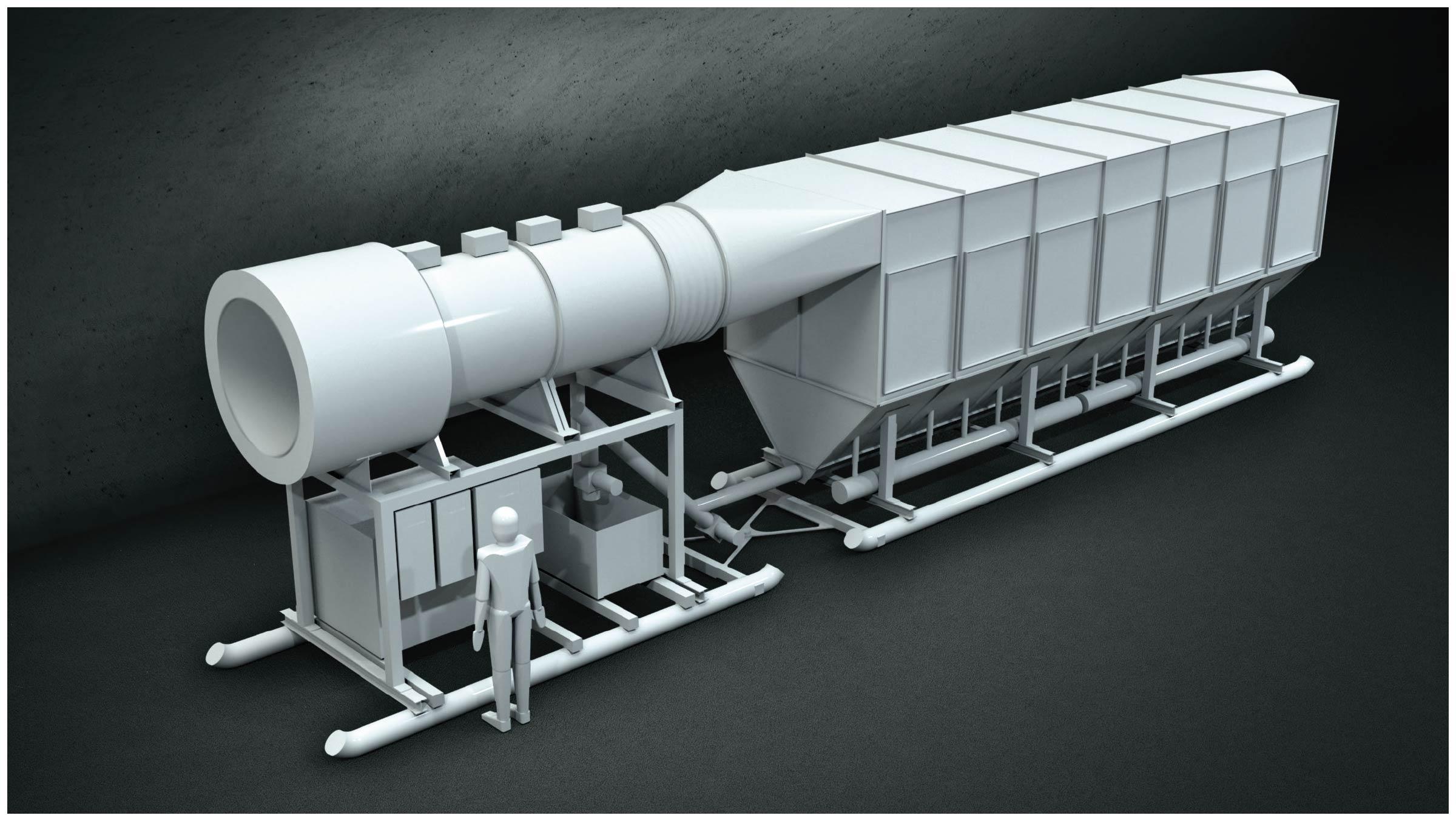 Colector de polvo para túnel
