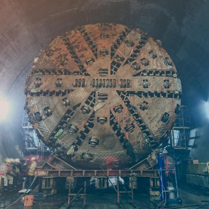 Colectores de polvo para excavaciones de túnel y trabajos en minería