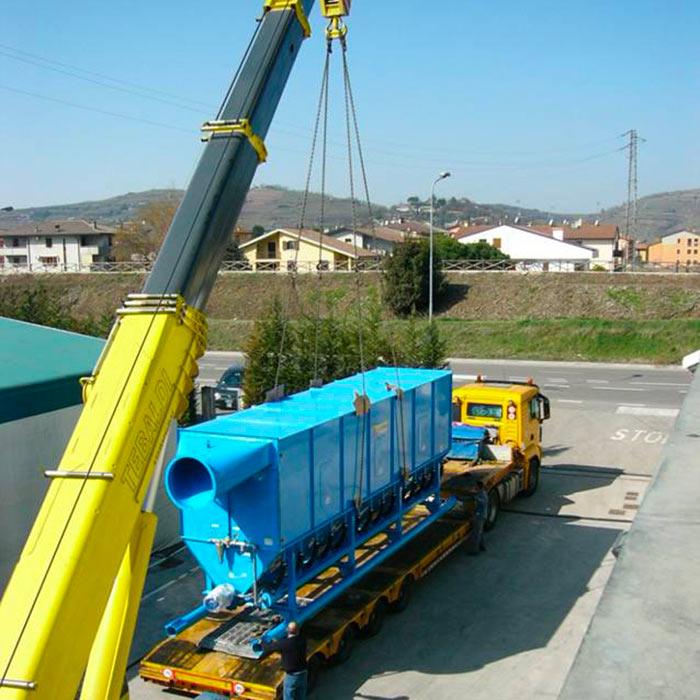 Depolveratore TMU | Scavo tunnel con fresa puntuale | Italia