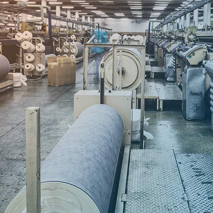 Tratamiento de aire para la industria textil