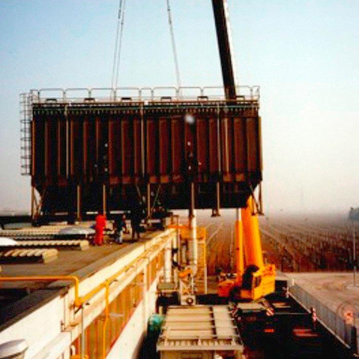 Sistema de extracción y filtración polvo | Producción de baterías eléctricas | Italia