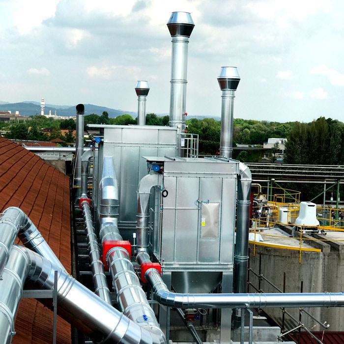 Impianto di filtrazione polvere | Produzione carta | Italia