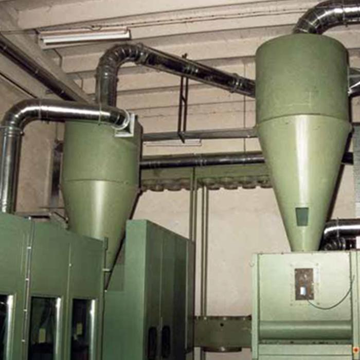 Sistemas de eliminación de polvos de ciclón