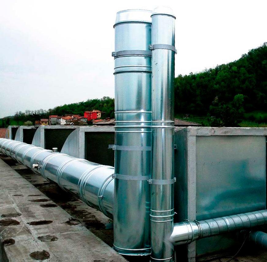 Sistema de aspiración de vapores | Extrusión de plástico | Italia