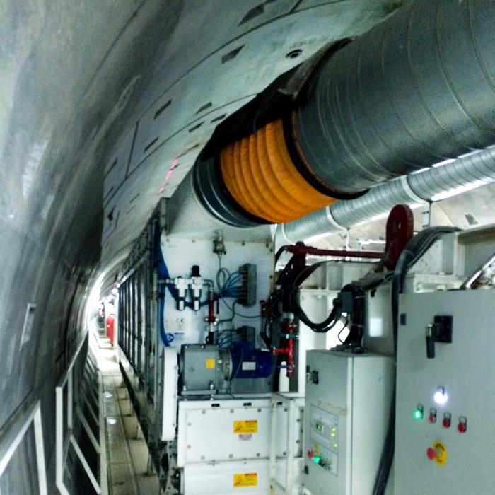 Colector de polvo TMU | Excavación de túnel con TBM | China