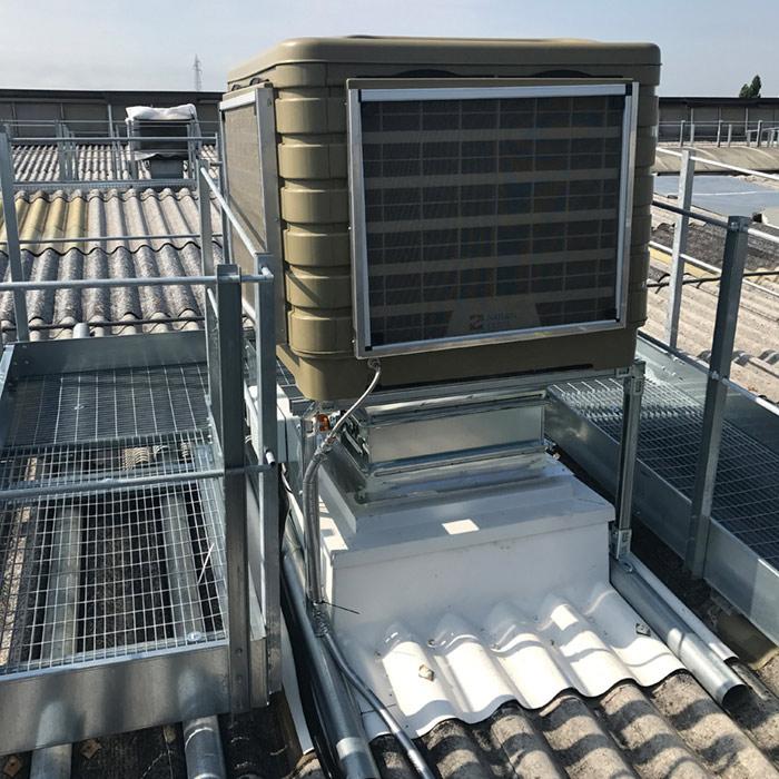 Impianto di raffrescamento adiabatico | Stampa flessografica | Italia