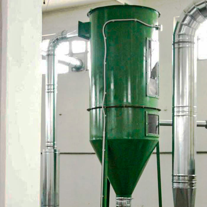 FMA self-cleaning bag dust collector | Metal grinding | Italy