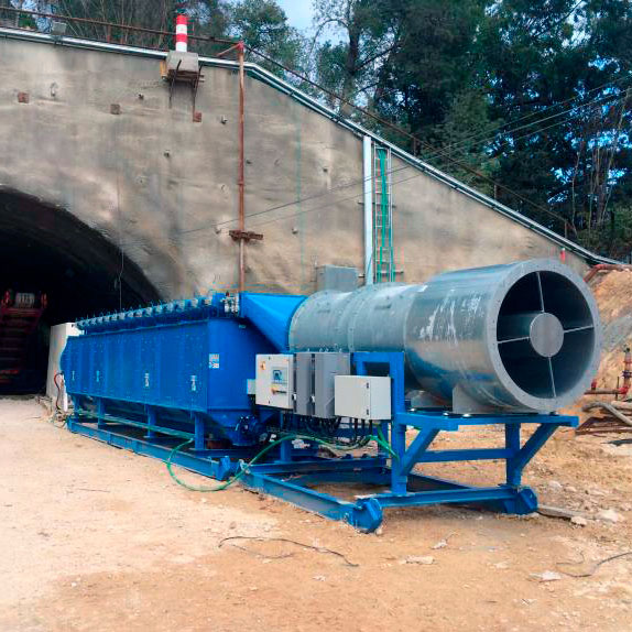 Colector de polvo TMU | Excavación de túnel con minadora puntual | Israel