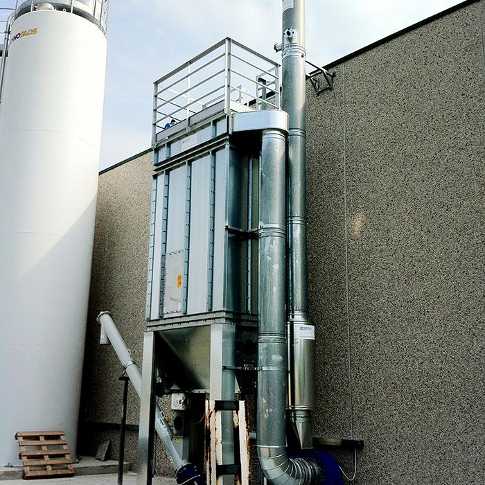 Filtro de mangas autolimpiantes FMA | Procesamiento del azúcar | Italia
