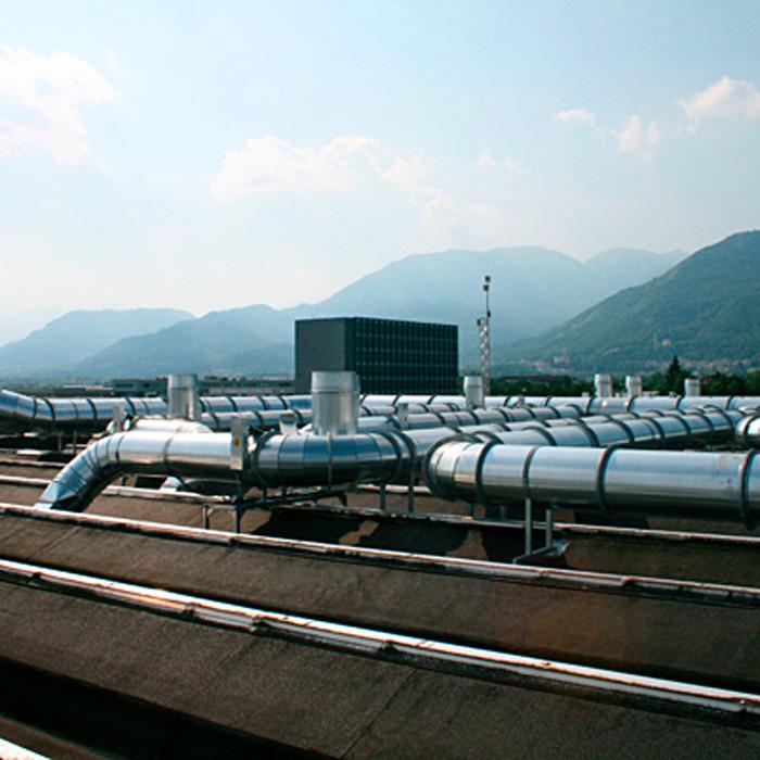 Impianto di raccordo al post-combustore | Stampa flessografica | Italia