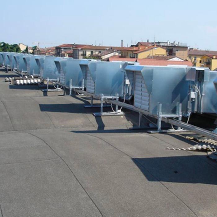 Impianto di ventilazione forzata | Produzione carta | Italia