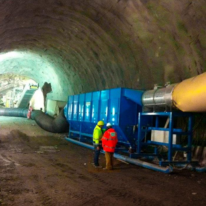 Colector de polvo TMU | Excavación de túnel con minadora puntual | Italia